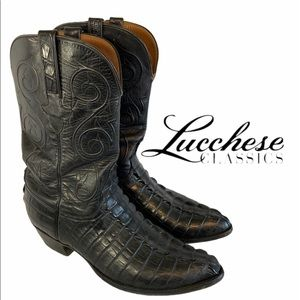 Lucchese Classics Hornback Caiman tail boots